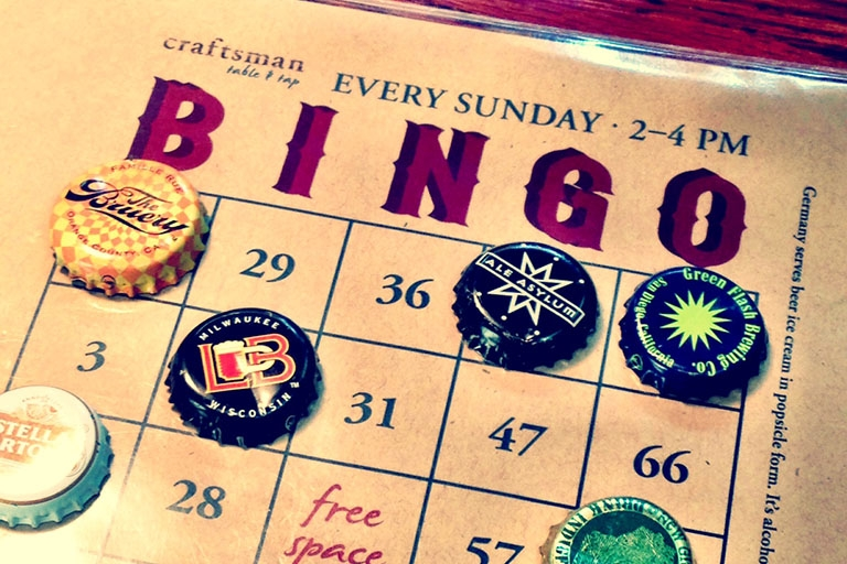 Beero Bingo at Craftsman Table & Tap