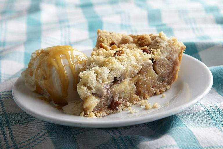 Monty's Blue Plate Diner Carmel Apple Pie