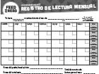 Feed the Read Calendar Spanish Black and white